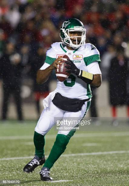 Kevin Glenn of the Saskatchewan Roughriders gets set to pass against the Ottawa Redblacks The Saskatchewan Rough Riders defeated the Ottawa Redblacks...