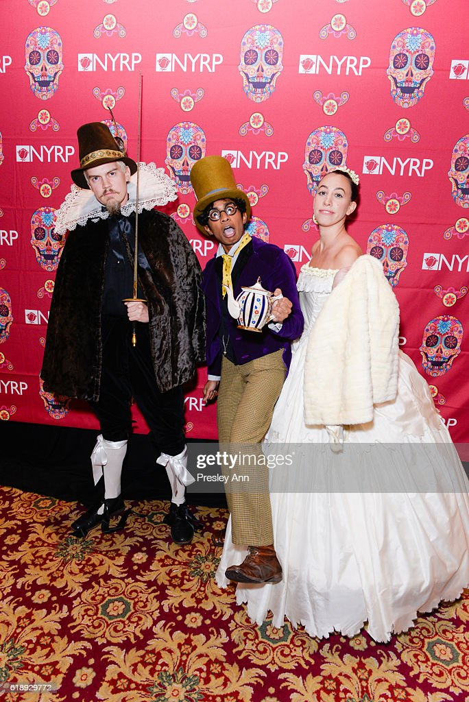 Kevin Gnapoor, Miranda Sings and guest attend Bette Midler's Annual Hulaween Bash celebrating the New York Restoration Project at the Waldorf=Astoria on October 28, 2016 in New York City.