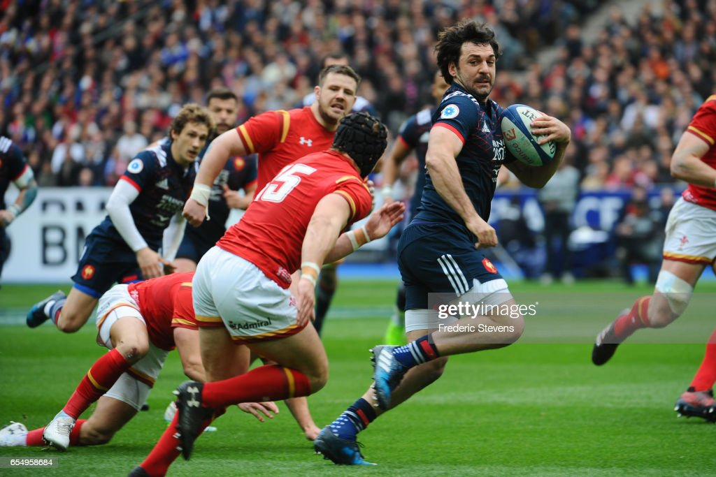 Kevin Gourdon of France in action during the RBS Six Nations match between France and Wales at Stade de France on March 18, 2017 in Paris, France.