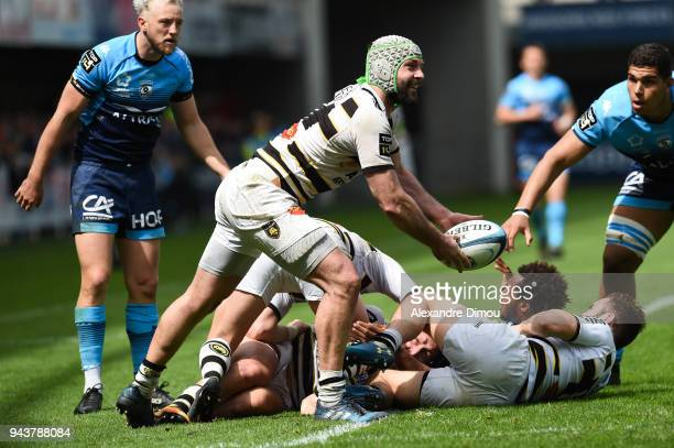 Kevin Gourdon of La Rochelle during the French Top 14 match between Montpellier and La Rochelle at Altrad Stadium on April 8 2018 in Montpellier...