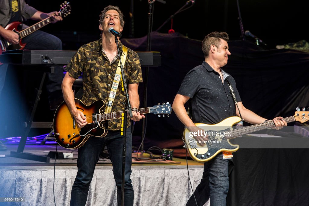 Kevin Griffin and Tom Drummond of the band Better Than Ezra perform at The Greek Theatre on June 15, 2018 in Los Angeles, California.