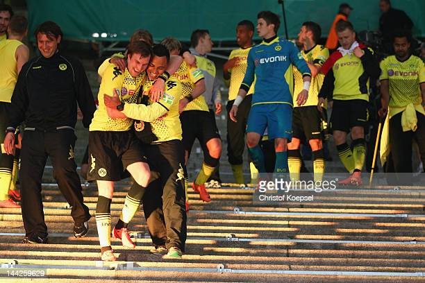 Kevin Grosskreutz and Antonio da Silva of Dortmund celebrate after winning 52 the DFB Cup final match between Borussia Dortmund and FC Bayern...