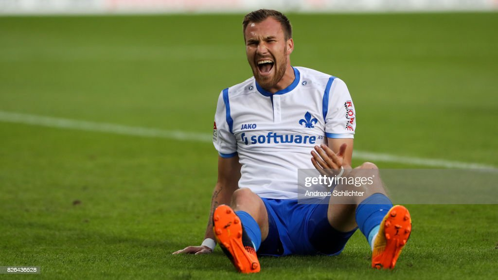 Kevin Grosskreutz of Darmstadt during the Second Bundesliga match between 1. FC Kaiserslautern and SV Darmstadt 98 at Fritz-Walter-Stadion on August 4, 2017 in Kaiserslautern, Germany.