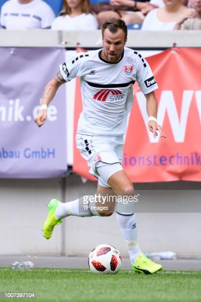 Kevin Grosskreutz of KFC Uerdingen controls the ball during the 3 Liga match between KFC Uerdingen 05 and SpVgg Unterhaching at GrotenburgStadion on...
