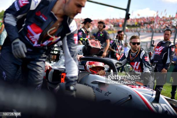 Kevin Haas F1's Danish driver Kevin Magnussen is pictured ahead of the Formula One Hungarian Grand Prix race at the Hungaroring circuit in Mogyorod...