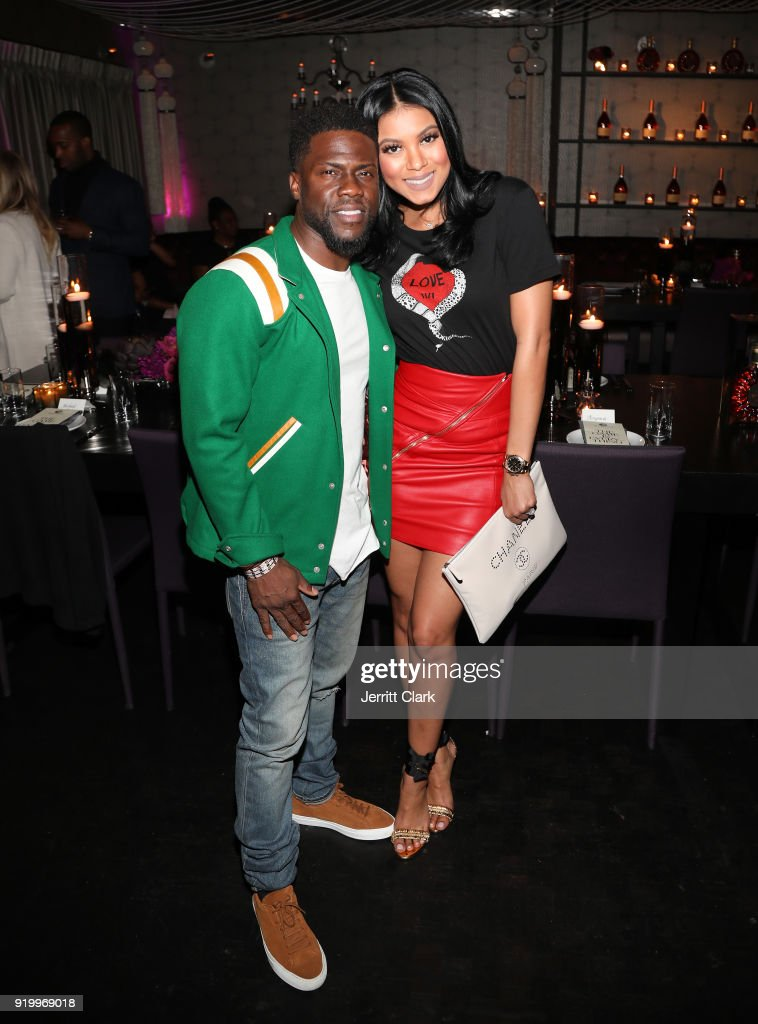 Kevin Hart and Eniko Hart attend the Klutch Sports Group 'More Than A Game' Dinner Presented by Remy Martin at Beauty & Essex on February 17, 2018 in Los Angeles, California.