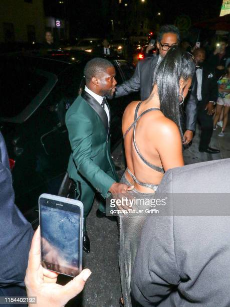 Kevin Hart and Eniko Parrareh are seen on July 06 2019 in Los Angeles California