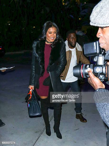 Kevin Hart and Eniko Parrish are seen on December 25 2016 in Los Angeles California