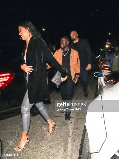 Kevin Hart and Eniko Parrish are seen on January 26 2019 in Los Angeles California