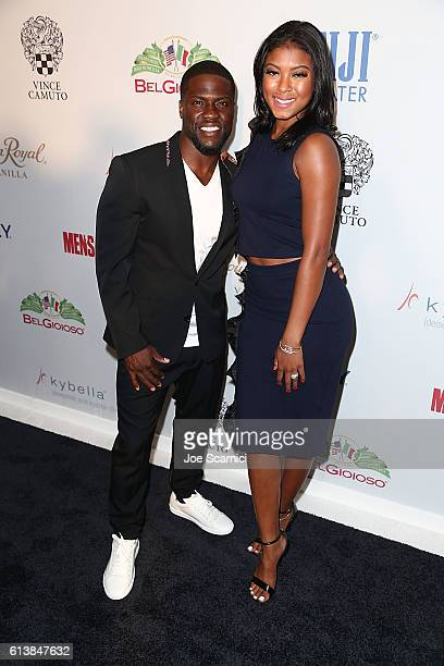 Kevin Hart and Eniko Parrish arrive at the Men's Fitness Game Changers Celebration at Sunset Tower Hotel on October 10 2016 in West Hollywood...