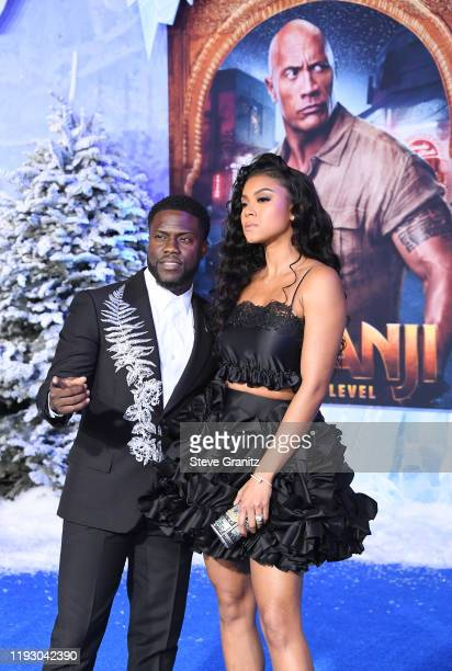 Kevin Hart and Eniko Parrish arrives at the Premiere Of Sony Pictures' Jumanji The Next Level on December 09 2019 in Hollywood California