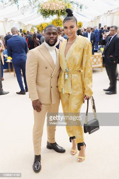 Kevin Hart and Eniko Parrish attend 2019 Roc Nation THE BRUNCH on February 9 2019 in Los Angeles California