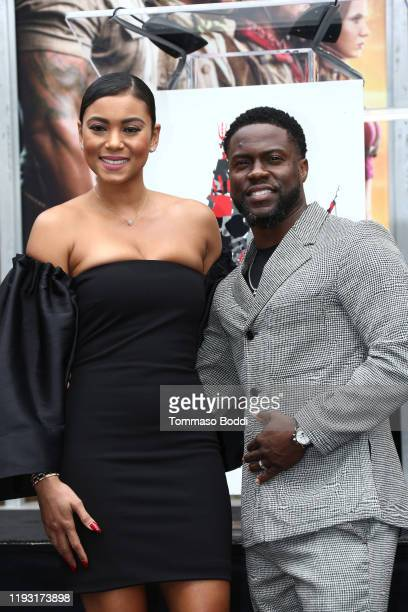 Kevin Hart and Eniko Parrish attend a Hand and Footprint ceremony honoring Kevin Hart at the TCL Chinese Theatre IMAX on December 10 2019 in...