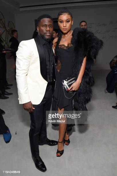 Kevin Hart and Eniko Parrish attend Sean Combs 50th Birthday Bash presented by Ciroc Vodka on December 14 2019 in Los Angeles California