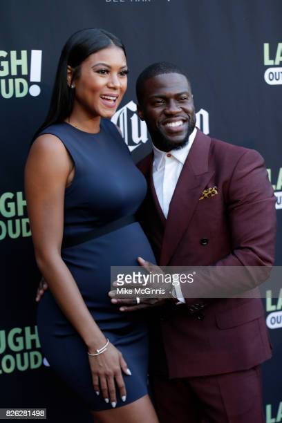Kevin Hart and Eniko Parrish attends Launch Of Laugh Out Loud hosted by Kevin Hart And Jon Feltheimer on August 03 2017 in Los Angeles California