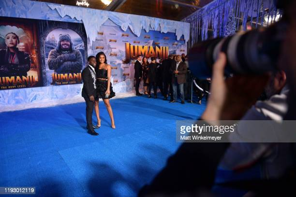 Kevin Hart and Eniko Parrish attends the premiere of Sony Pictures' Jumanji The Next Level at TCL Chinese Theatre on December 09 2019 in Hollywood...