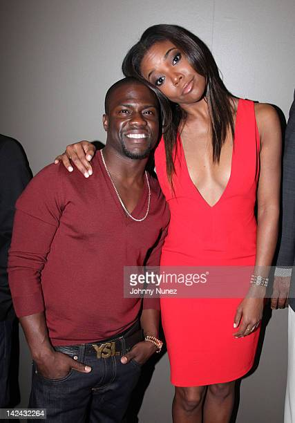 Kevin Hart and Gabrielle Union attend the 'Think Like a Man' screening at the AMC Empire 25 theater on April 4 2012 in New York City