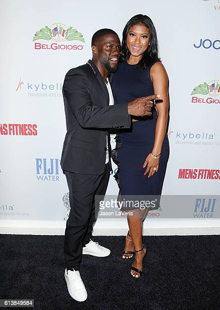 Kevin Hart and wife Eniko Parrish attend Men's Fitness Game Changers celebration at Sunset Tower Hotel on October 10 2016 in West Hollywood California