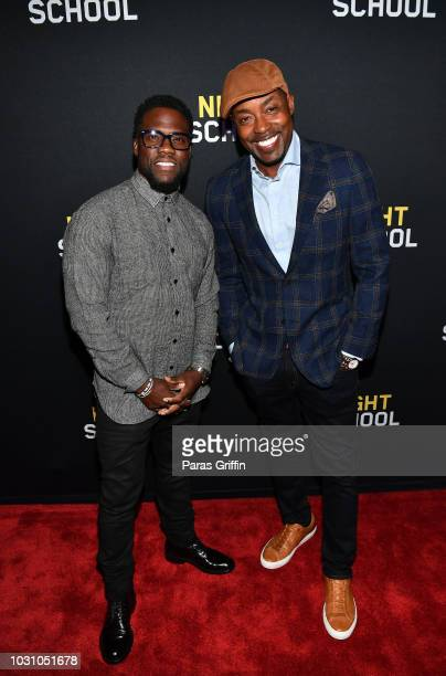 "Kevin Hart and Will Packer attend ""Night School"" Atlanta Red Carpet Screening at Regal Atlantic Station on September 10, 2018 in Atlanta, Georgia."