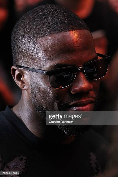 Kevin Hart arrives ahead of the Ride Along 2 Australian Premiere at Hoyts Melbourne Central on February 10, 2016 in Melbourne, Australia.