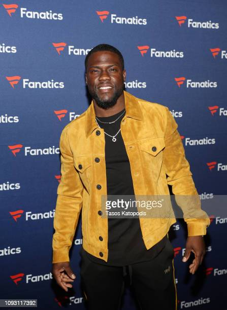 Kevin Hart arrives at the Fanatics Super Bowl Party at College Football Hall of Fame on January 5, 2019 in Atlanta, Georgia.