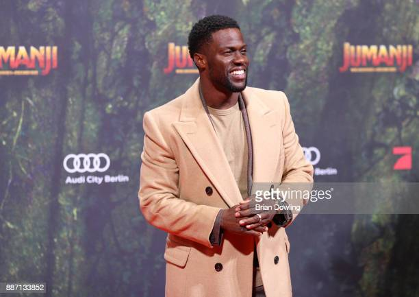 Kevin Hart arrives at the German premiere of 'Jumanji Willkommen im Dschungel' at Sony Centre on December 6 2017 in Berlin Germany