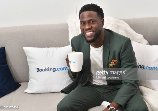 """Kevin Hart attends Booking.com's """"Tiny House With Big Personality"""" Curated By Kevin Hart on September 27, 2018 in New York City."""