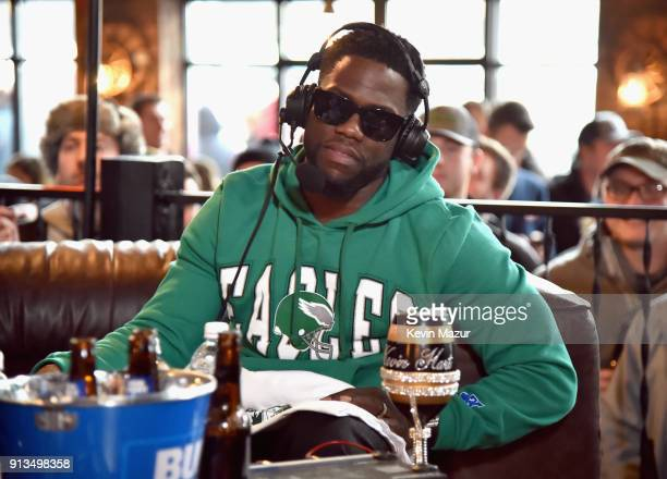 Kevin Hart attends Kevin Hart Live on Barstool Radio on SiriusXM at Super Bowl LII on February 2 2018 in Minneapolis Minnesota