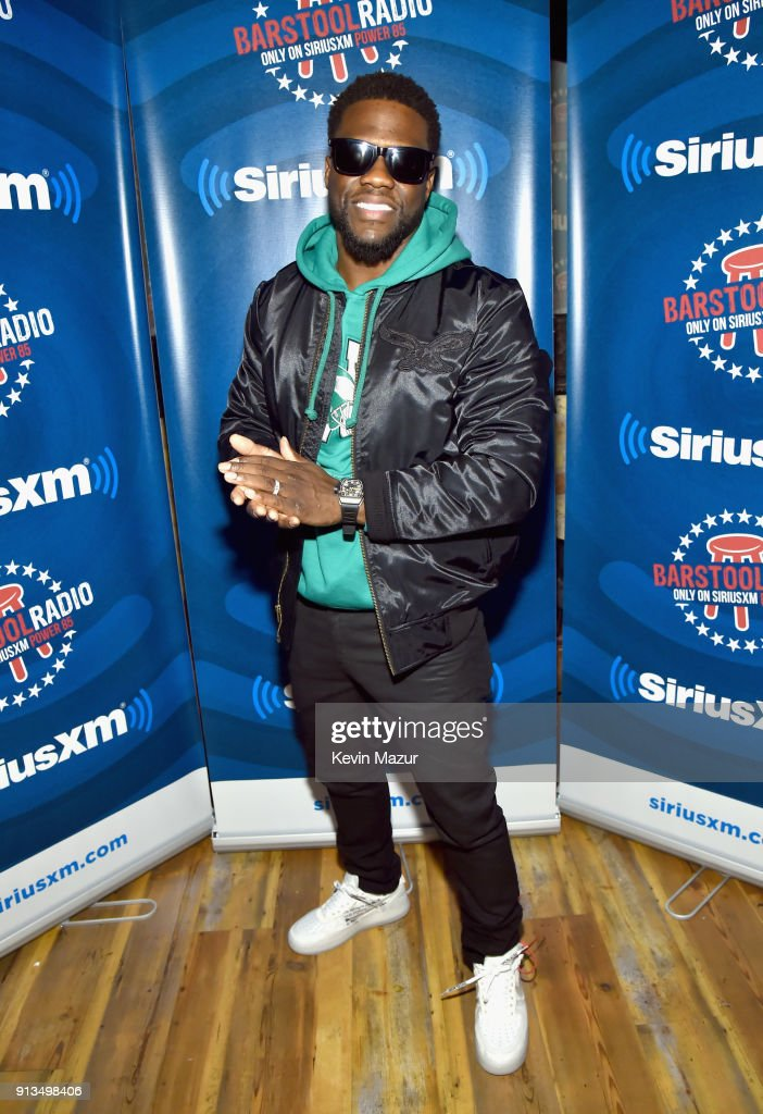 Kevin Hart attends Kevin Hart Live on Barstool Radio on SiriusXM at Super Bowl LII on February 2, 2018 in Minneapolis, Minnesota.