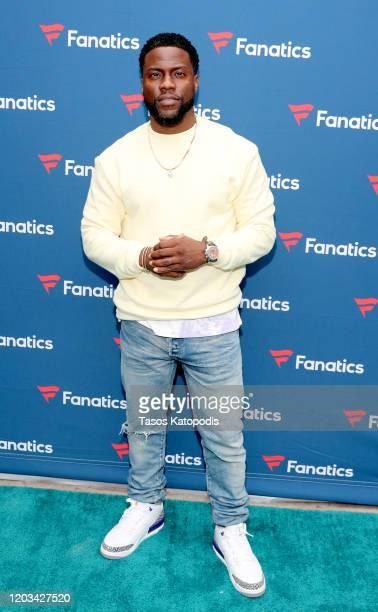 Kevin Hart attends Michael Rubin's Fanatics Super Bowl Party at Loews Miami Beach Hotel on February 01, 2020 in Miami Beach, Florida.