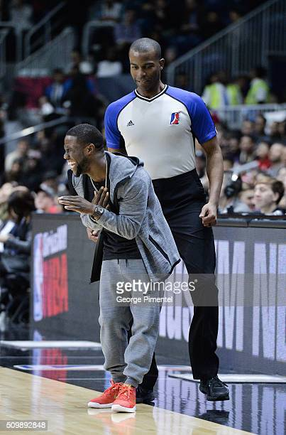 Kevin Hart attends the 2016 NBA AllStar Celebrity Game at Ricoh Coliseum on February 12 2016 in Toronto Canada