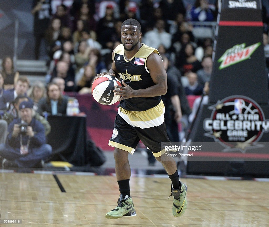 Kevin Hart attends the 2016 NBA All-Star Celebrity Game at Ricoh Coliseum on February 12, 2016 in Toronto, Canada.
