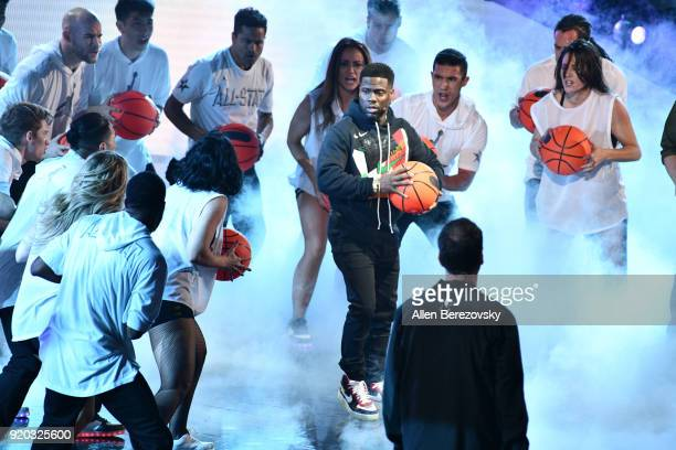 Kevin Hart attends The 67th NBA AllStar Game Team LeBron Vs Team Stephen at Staples Center on February 18 2018 in Los Angeles California
