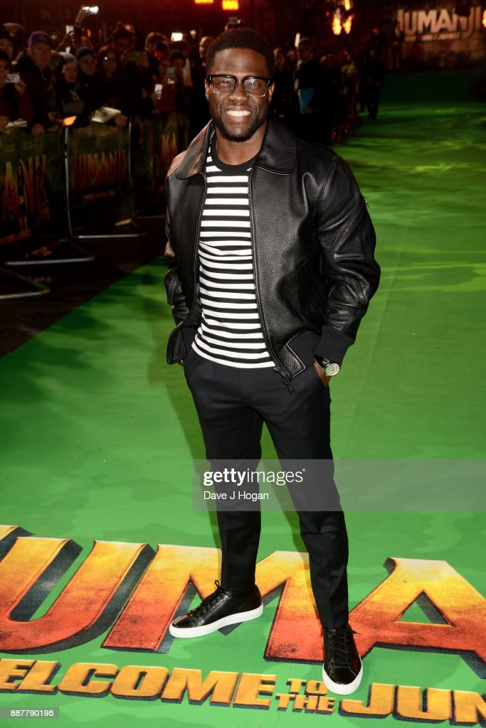 Kevin Hart attends the 'Jumanji: Welcome To The Jungle' UK premiere held at Vue West End on December 7, 2017 in London, England.