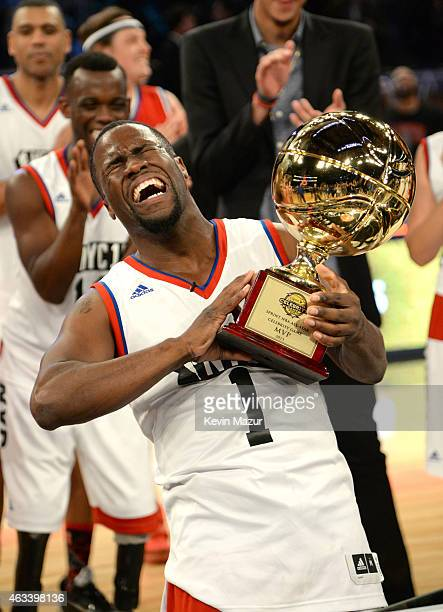 Kevin Hart attends the NBA AllStar Celebrity Game at Madison Square Garden on February 13 2015 in New York City