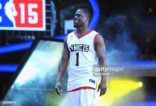 Kevin Hart attends the NBA AllStar Celebrity Game NBA All Star Weekend 2015 on February 13 2015 in New York City
