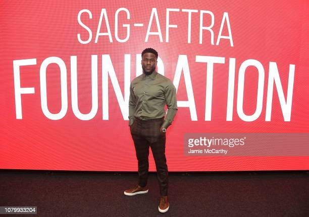 Kevin Hart attends the SAGAFTRA Foundation Conversations The Upside With Kevin Hart Neil Burger at The Robin Williams Center on January 9 2019 in New...