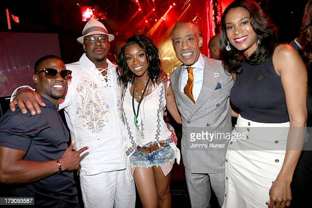 Kevin Hart Bobby Brown Brandy Norwood Al Sharpton and Aisha McShaw attend the 2013 Essence Festival at the MercedesBenz Superdome on July 6 2013 in...