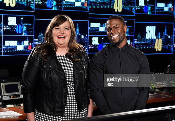 LIVE Kevin Hart Episode 1673 Pictured Aidy Bryant and Kevin Hart on January 13 2015
