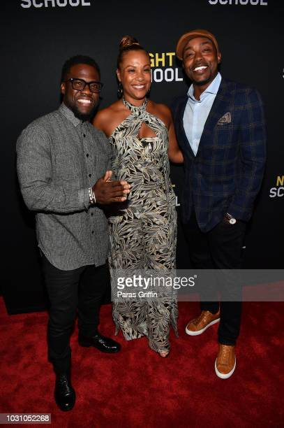 Kevin Hart Heather Hayslett Packer and Will Packer attend Night School Atlanta Red Carpet Screening at Regal Atlantic Station on September 10 2018 in...