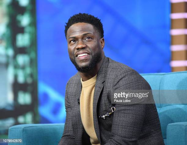 """Kevin Hart is a guest on """"Good Morning America,"""" on Wednesday, January 9 airing on the Walt Disney Television via Getty Images. KEVIN HART"""