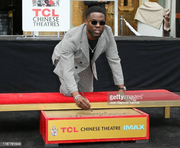 Kevin Hart is honored with a Hand and Footprint ceremony at the TCL Chinese Theatre IMAX on December 10, 2019 in Hollywood, California.