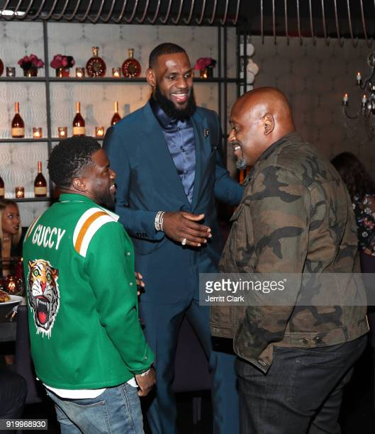Kevin Hart Lebron James and Steve Stoute attend the Klutch Sports Group More Than A Game Dinner Presented by Remy Martin at Beauty Essex on February...