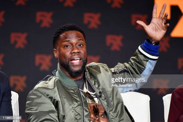 Kevin Hart of 'Dave' speaks during the FX segment of the 2020 Winter TCA Tour at The Langham Huntington, Pasadena on January 09, 2020 in Pasadena,...