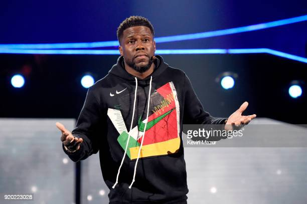 Kevin Hart performs before the 67th NBA All-Star Game: Team LeBron Vs. Team Stephen at Staples Center on February 18, 2018 in Los Angeles, California.
