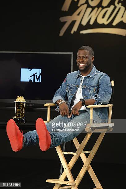 Kevin Hart preps to host the 2016 MTV Movie Awards at The Edition on February 20 2016 in Miami Beach Florida