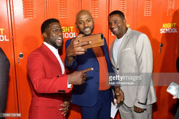 Kevin Hart Romany Malco and Malcolm D Lee attend the premiere of Universal Pictures' Night School on September 24 2018 in Los Angeles California