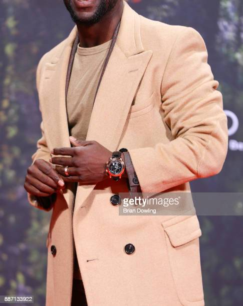 Kevin Hart seen wearing a yellow gold Patek Philippe Ref 5102T Celestial Watch arrives at the German premiere of 'Jumanji Willkommen im Dschungel' at...
