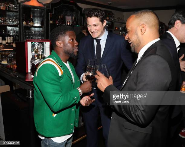Kevin Hart Thomas BeraudSudreau and Had Teherany President of Adelaide Park toast with Louis XIII at the Klutch Sports Group More Than A Game Dinner...
