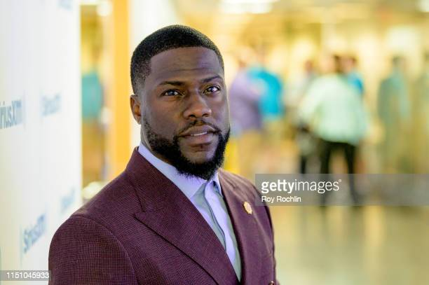 """Kevin Hart visits """"Sway In the Morning"""" on """"Shade 45"""" with host Sway Calloway at SiriusXM Studios on May 22, 2019 in New York City."""